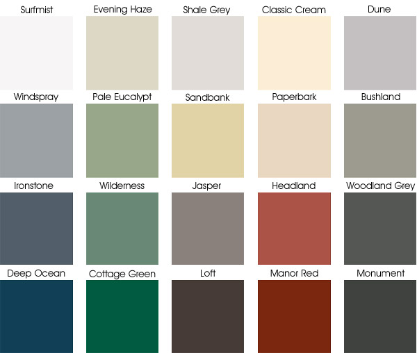 Colorbond Colours Expert Roofing Amp Reroofing Call 1300